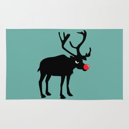 Angry Animals: Rudolph the red nosed Reindeer Rug