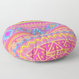 Aztec Pattern Pink and Light bLUE cOLORS Floor Pillow