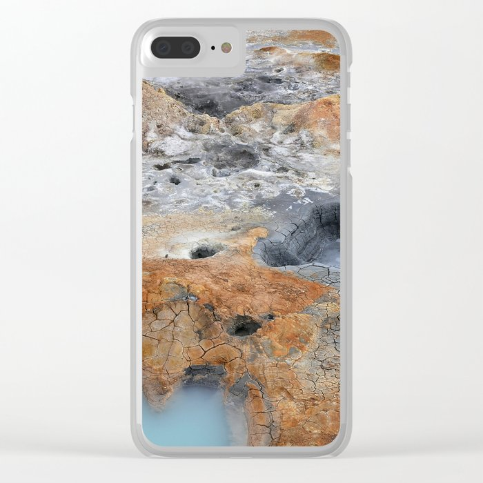 Boiling Mud Pots. Clear iPhone Case
