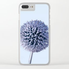 Monochrome - Starry night on the thistle globe Clear iPhone Case