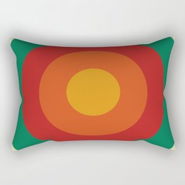Bequia - Classic Colorful Abstract Minimal Retro 70s Style Graphic Design Rectangular Pillow
