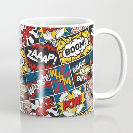 Modern Comic Book Superhero Pattern Color Colour Cartoon Lichtenstein Pop Art Coffee Mug