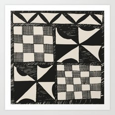 Tapa Cloth | Pacifica Patterns | Tribal Art Art Print