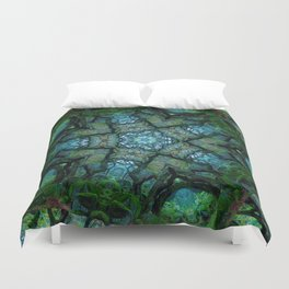 Lost in Moss Duvet Cover