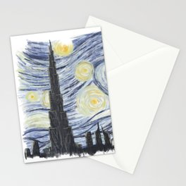 The Starry Night of Dubai Stationery Cards