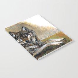 Totem Carpathian wolf realistic Notebook