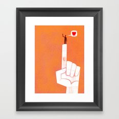 the point is my heart Framed Art Print