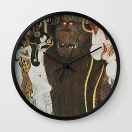 BEETHOVEN FRIEZE - GUSTAV KLIMT Wall Clock