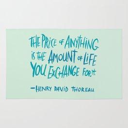 Henry David Thoreau Rug