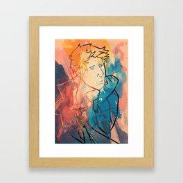 Follow me back home Framed Art Print