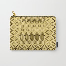 geometric layout in creamy yellow Carry-All Pouch