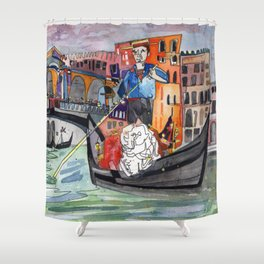 Lovers in Venice Shower Curtain