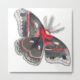 Silk Moth-Fall Metal Print