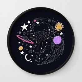 Universe girl Wall Clock