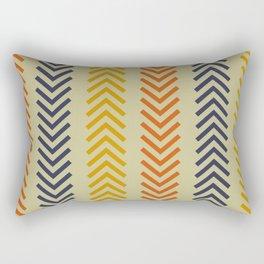 Ethnic Orange, Blue & Gold Arrows  Rectangular Pillow