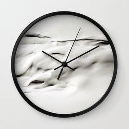 Snow Abstract Wall Clock