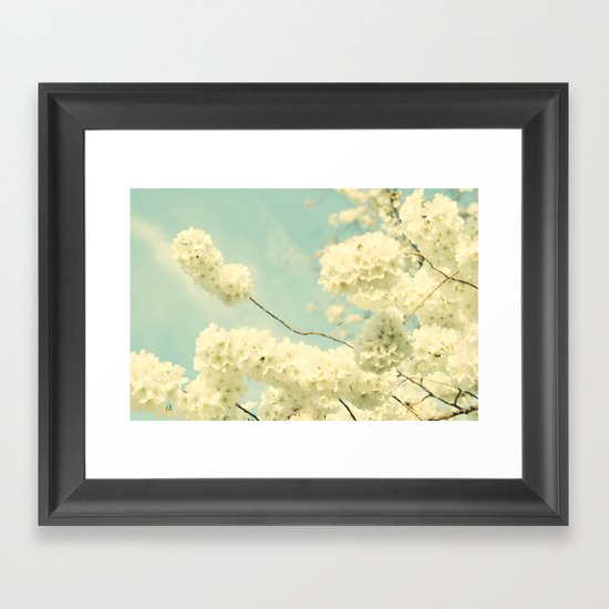 The Blossom and the Bee Framed Art Print