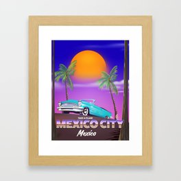 """Mexico City - """"Mexican nights"""" version Framed Art Print"""
