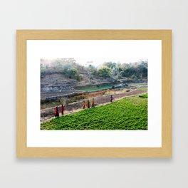 Indian Women Carrying Water Framed Art Print
