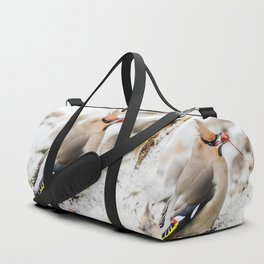 Bohemian waxwing Duffle Bag