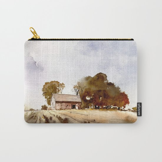 Lonely house on a hillfarm Carry-All Pouch