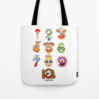 muppet Tote Bags featuring Muppet Babies Numbers by Mike Boon