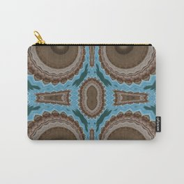 Brown Warts on Blue Pattern Carry-All Pouch