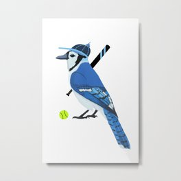 Softball Blue Jay Metal Print