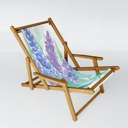 Lavender Floral Watercolor Bouquet Sling Chair
