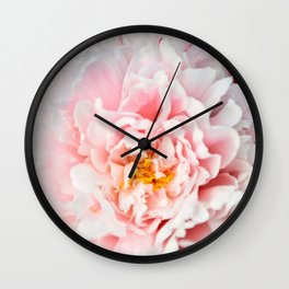Peony Flower Photography, Pink Peony Floral Art Print Nursery Decor A happy life - Peonies 2 Wall Clock
