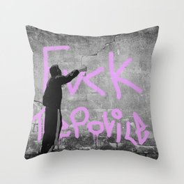 Fvck The Police Throw Pillow