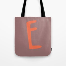 The Letter E Brush Typography Tote Bag