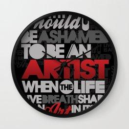 I am Artist (Black) Wall Clock