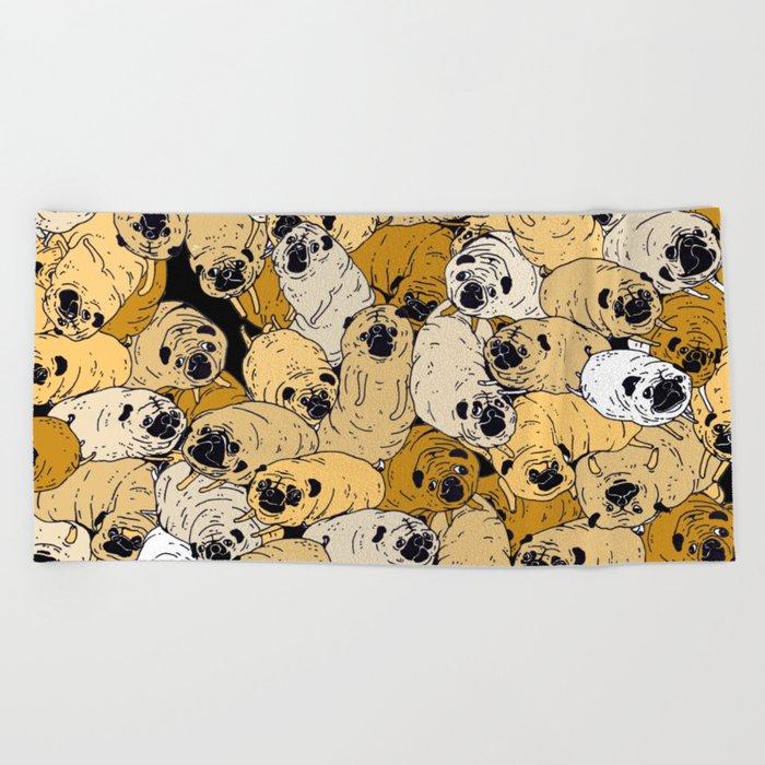 pug world Beach Towel