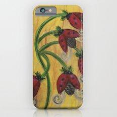 Ladybug Flowers Slim Case iPhone 6s