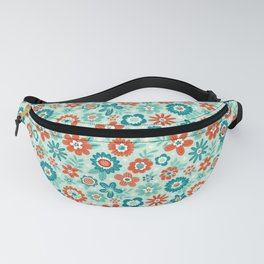 Red White & Blue Floral Fanny Pack