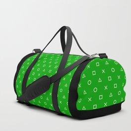 Green Gamer Pattern Duffle Bag