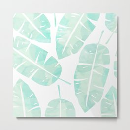 Cabana Leaves Metal Print