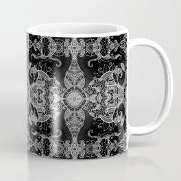 Sunflowers - Mehndi Paisley Floral Abstract Art - Black White #2 Coffee Mug