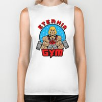 gym Biker Tanks featuring Eternia Gym by Buby87