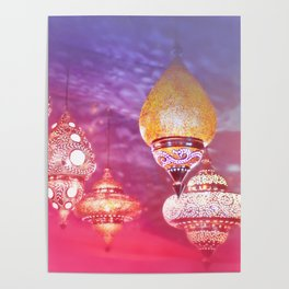 Oriental Magical Lights and Love Poster
