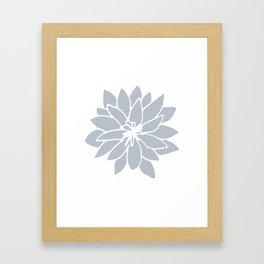 Flower Bluebell Blue on White Framed Art Print