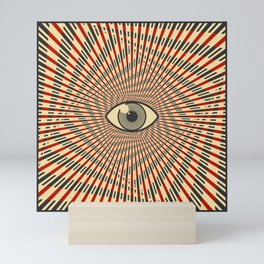 Red eye of providence Mini Art Print