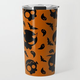 Skulls Pattern Travel Mug