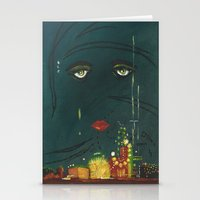 gatsby Stationery Cards featuring Gatsby by Julia Lopez