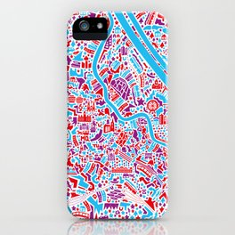 Vienna City Map Poster iPhone Case