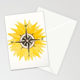 Compass  Sunflower Stationery Cards