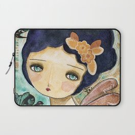 Charity Wings Watercolor Collage Laptop Sleeve