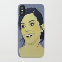 emma watson iPhone & iPod Cases featuring Emma Watson funny face by Esther Cerga