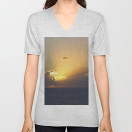 Sunset, Amalphi coast, Italy 2 Unisex V-Neck